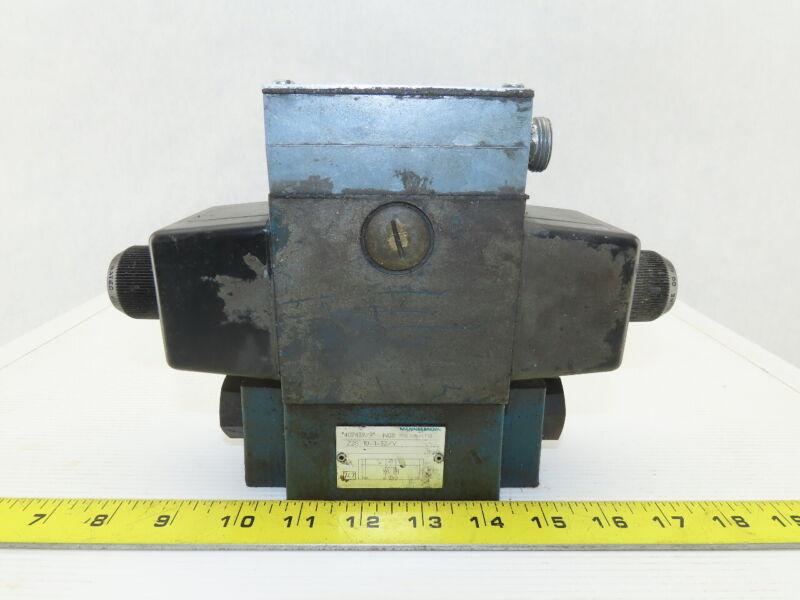 Rexroth 4WE10W31/CW110N9DK25L Hydraulic Directional Control Valve Z2S10-1-31/V