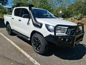 2019 Toyota Hilux GUN126R SR Double Cab White 6 Speed Sports Automatic Utility Stuart Park Darwin City Preview