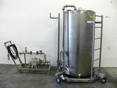 APV Votator CIP Skid w/ 600 Gallon Tank, Fristam FPX 732-125 Pump & Badger Meter