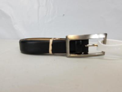NWT PGA Tour Women's Black Skinny Leather Adjustable Golf Belt 6536300 1