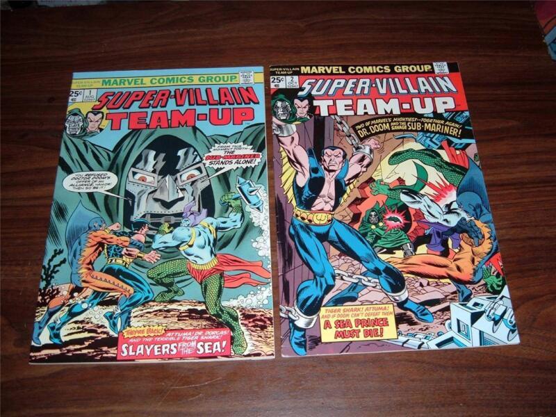 Super-Villain Team-Up 1-10----lot of 9 comic books