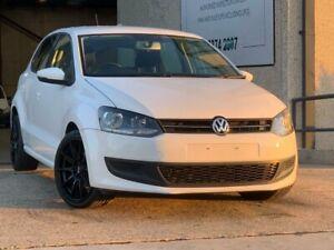 2010 Volkswagen Polo 6R 66TDI Comfortline Hatchback 5dr DSG 7sp 1.6DT [MY11] White