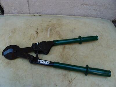 Greenlee 756 Ratchet Cable Cutter Works Great 2