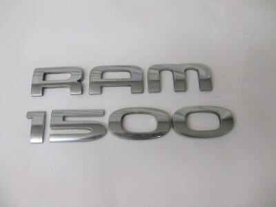 "DODGE RAM 1500 TRUCK CHROME DOOR EMBLEM LETTER SET ""RAM 1500""  2006 - 2008 OEM"