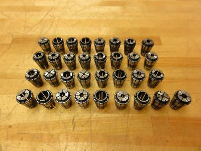 33 Assorted Xt16 Precision Tapping Collets Cnc Vmc Milling Drilling