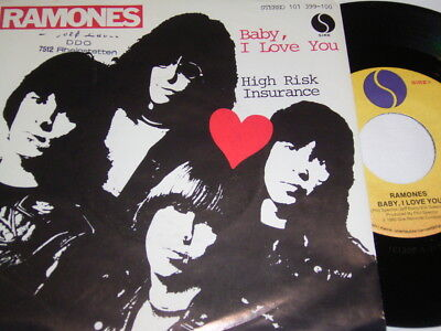"7"" - Ramones Baby I love you & High Risk Insurance - 1980 # 1491"