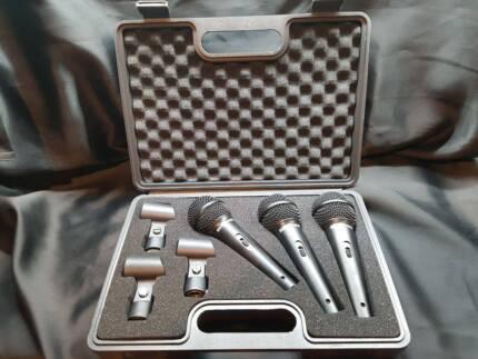 Behringer XM1800S UltraVoice Microphones (x2 Sets of 3 Mics Each)