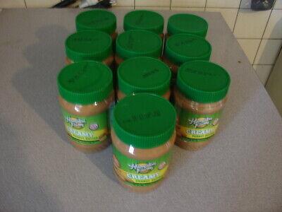 11 jars Hampton Farms Creamy Peanut Butter 1Lb Jars] 100% USA Grown  Farms Peanut Butter