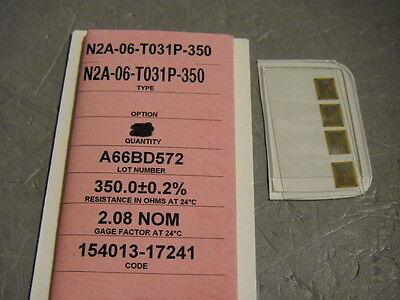 Vishay N2a-06-t031p-350 Foil Strain Gauge 350 Ohm Lot Of 4