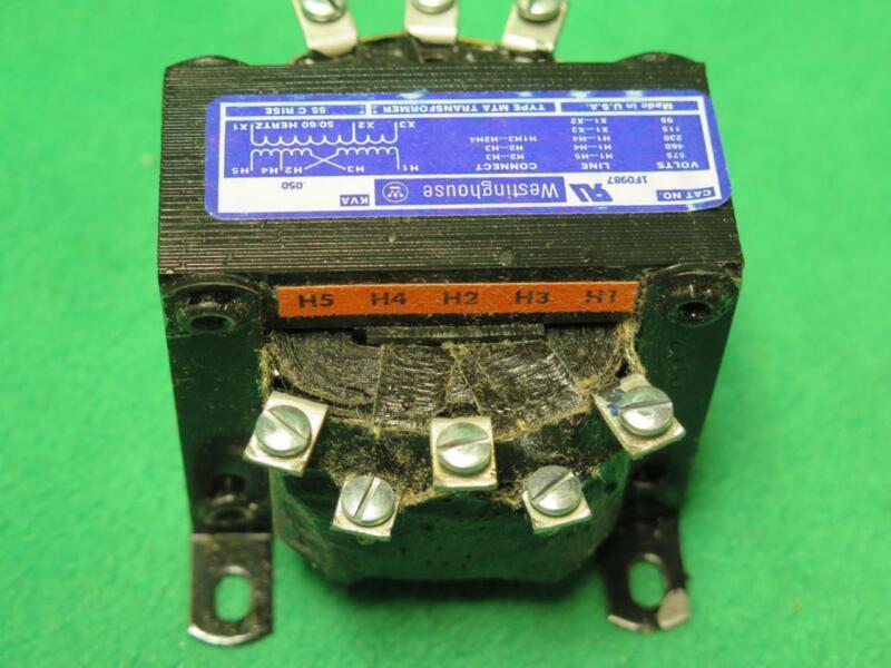 GE GENERAL ELECTRIC 1F0987 .050 KVA POWER TRANSFORMER 230/460/575V 115/95V  1PH