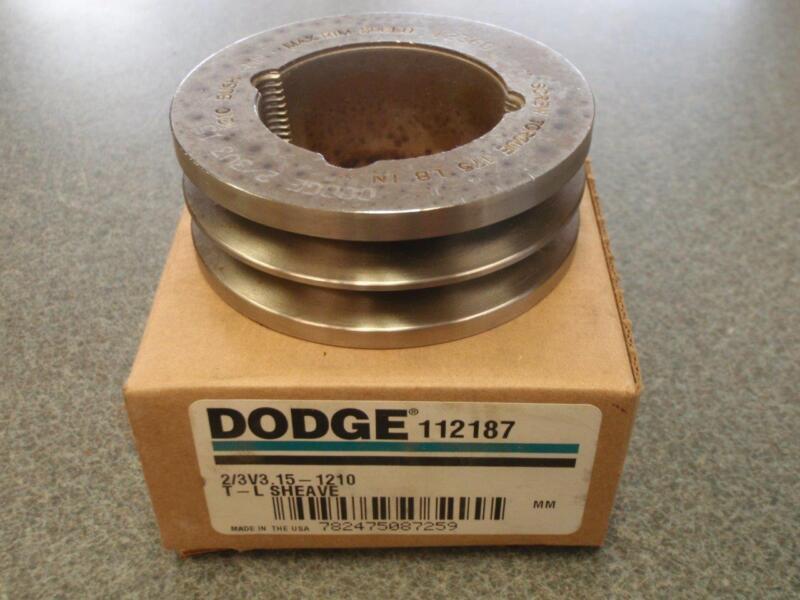 DODGE 2/3V3.15-1210 SHEAVE 112187 *NEW*