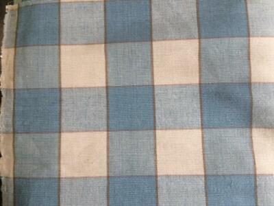 Malabar Cotton Company Fabric Blue / Cream Check Chetti 16