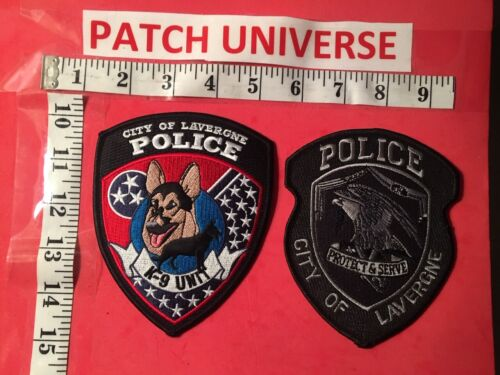 LOT OF TWO DIFFERENT LAVERGNE TENN POLICE  SHOULDER PATCHES  Q094