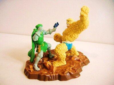 RARE Marvel Universal Studios Fantastic Four THING vs DR DOOM PVC Figure