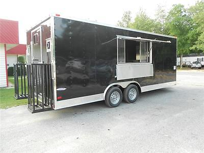 New 8.5x20 8.5 X 20 Enclosed Concession Food Vending Bbq Trailer Must See