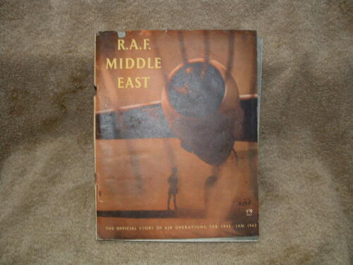 R.A.F. AIR FORCE MIDDLE EAST AIR OPERATIONS MAGAZINE PAPER BOOK LONDON 1942 /43