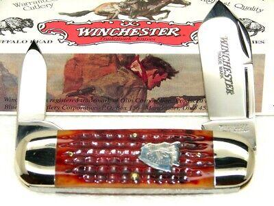 WINCHESTER,1997, # 29112BH TOENAIL ~ SUNFISH KNIFE, BURNT ORANGE BONE, MINT