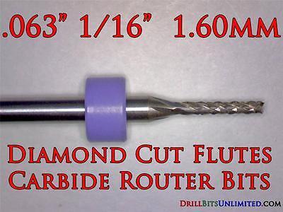 116 Carbide Router Bit - Diamond Cut Flutes - Super Value Cnc Pcb Dremel Ft