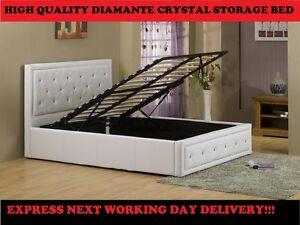 Double-1-2m6-Ottoman-Rangement-Lit-Diamant-Cristal-NEXT-TRAVAIL-DAY-LIVRAISON