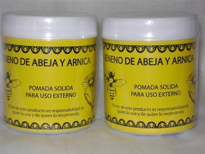 2-PACK-POMADA VENENO DE ABEJA & ARNICA-ANALGESIC BEE VENOM & ARNICA OINTMENT 4oz segunda mano  Embacar hacia Argentina