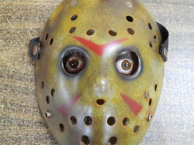 HALLOWEEN HORROR MOVIE PROP - Jason Hockey Mask Face Insert Friday the 13th - Friday The 13th Halloween Props