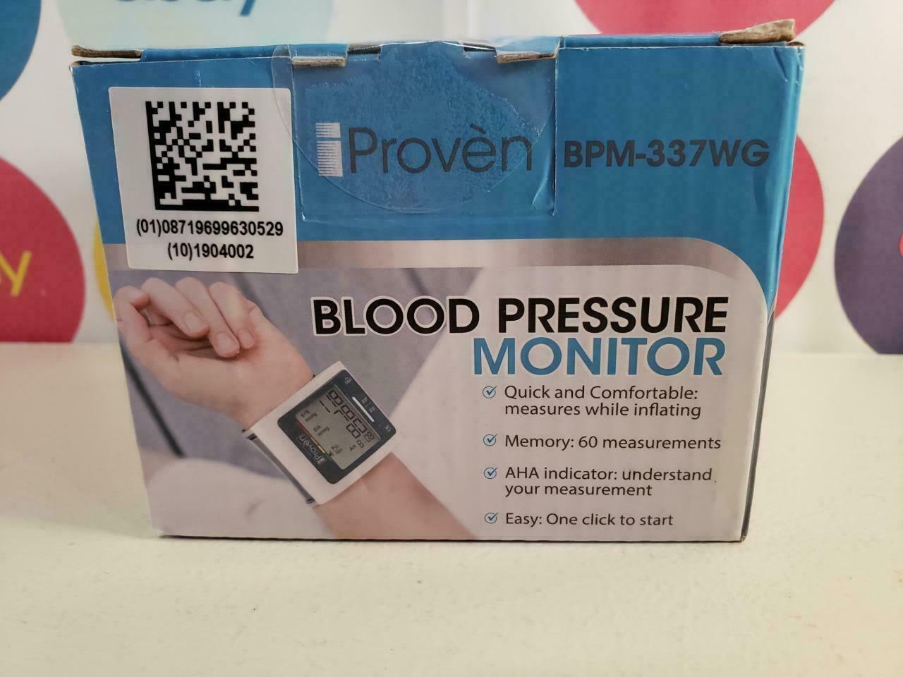 iProven Blood Pressure Monitor Watch Meter Wrist Cuff BPM-33