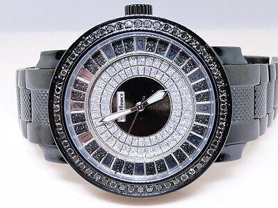 2.25 Karat Neu Herren Jojo / Jojino / Joe Rodeo Metall 56 Schwarzer Diamant Uhr (Jojino Uhren)