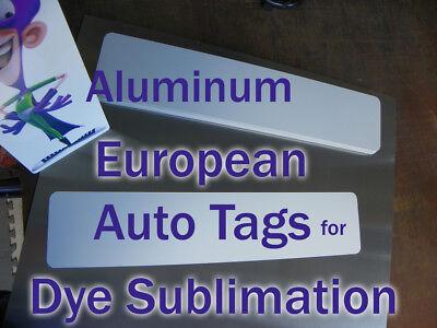 European Auto License Plate Blanks For Dye Sublimation - 10pcs 2.15 Each