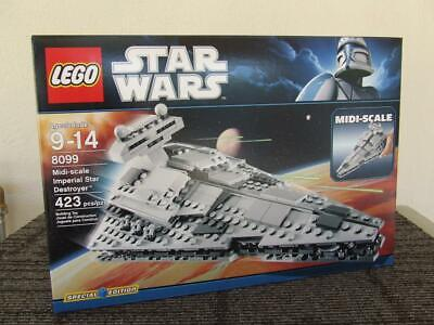 New Lego 8099 Star Wars Midi Scale Imperial Star Destroyer Rare Set (Sealed Box)