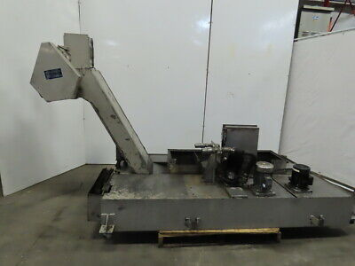 Henning Incline Chip Conveyor Coolant Recovery 12 Belt 48x13 Infeed 49 Disc.