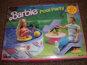 Vintage barbie swimming pool ebay for Barbie doll house with swimming pool