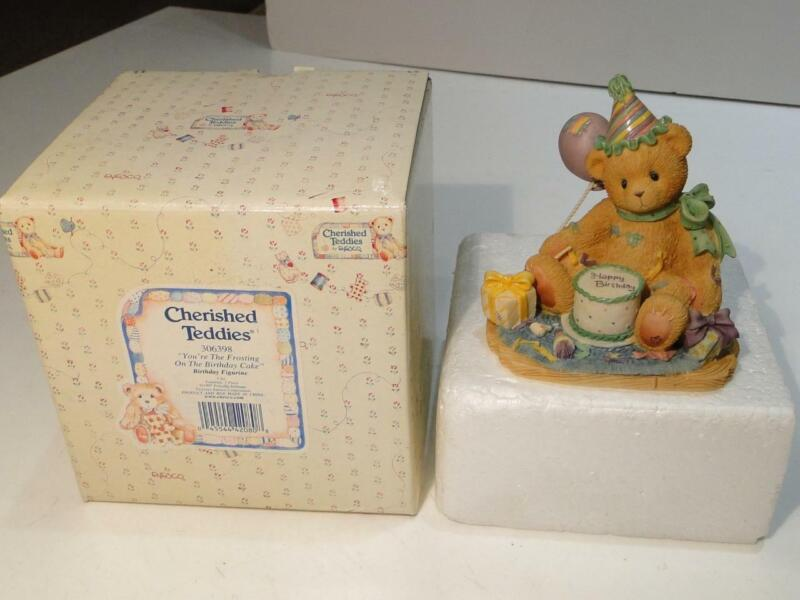 """Cherished Teddies 1997 """"You're The Frosting on The Birthday Cake"""" #306398"""