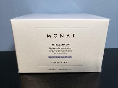 Monat Be Balanced Lightweight Moisturizer 1.52 oz - New / Sealed! Restoring