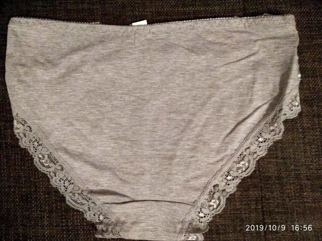 2 Stück Damen Slips mit Spitze Unterhosen Hipste Übergröße Baumwollem.Gr:XL-4XL