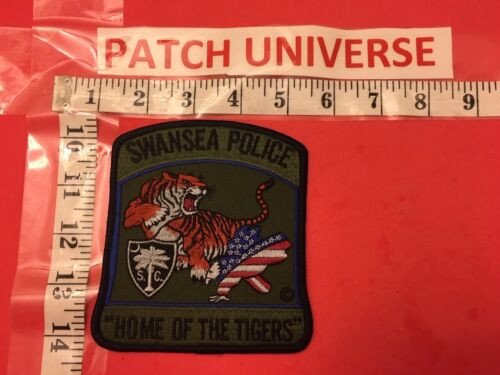 SWANSEA SC  POLICE  HOME OF THE TIGERS SHOULDER  PATCH  E003