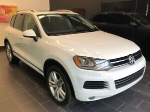 2014 Volkswagen Touareg TDI+GPS+CUIR+AWD+TOIT PANO NEVER ACCIDEN