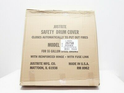 Justrite 26750 55 Gallon Safety Drum Cover