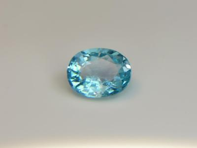 2.07CT STUNNING UNTREATED NATURAL GRIGHT NEON BLUE BRAZILIAN APATITE
