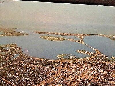 Postcard Aerial View of Bird Key and Lido Key in Sarasota, FL.     X5