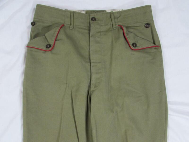 Vtg 50s 60s Boy Scouts of America Green Uniform Pants 30x30 Men