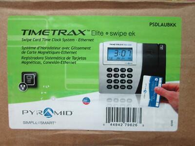 Pyramid Timetrax Elite Psdlaubkk Automated Swipe Card Time Clock System