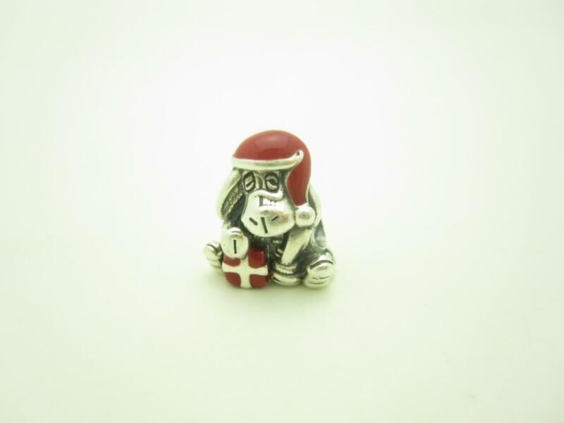 Pandora Sterling Silver Eeyore Disney Winnie The Poo Christmas Holiday Charm