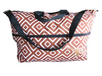Texas Longhorns Orange White Large Expandable Tote Tailgate Beach Diaper Bag UT