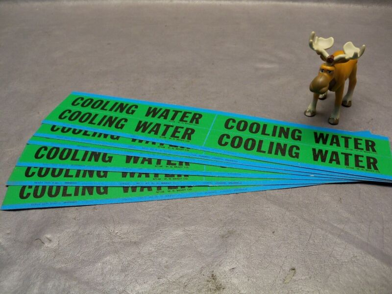 Brady Cooling Water Pipe Marker 4 per Card Lot of 6