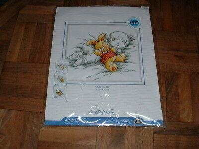Creative World Rto Counted Cross Stitch Kit  M157 Sweet Sleep New Sealed