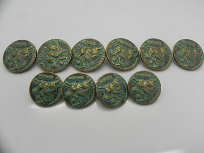 COLLECTABLE ANTIQUE STYLE BUTTONS MARKED INNAN SET OF 10