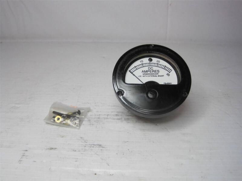 7888 Amp Ammeter Gauge MR26W030DCAAR R-230  0 - 30 Amps FS-50MV 200R558A