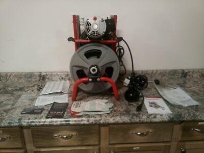 Ridgid 27013 13 Hp 165 Rpm 115vac 100 Ft Max Run Drain Cleaning Machine