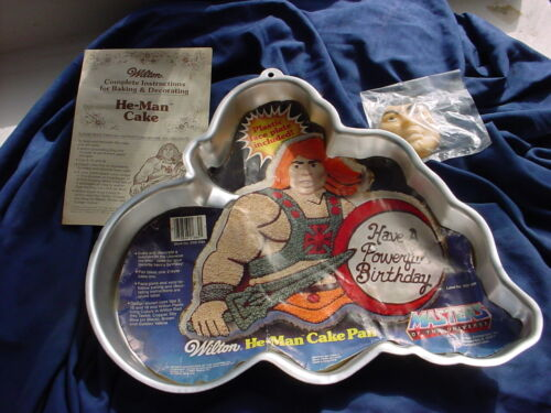 VTG Wilton HE-MAN cake pan MASTERS OF THE UNIVERSE 1983 metal mold FACE INSERT
