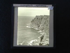 Magic-Lantern-Glass-Slide-Longships-Lands-End-Cornwall-Photo-pre-1920s-no-47